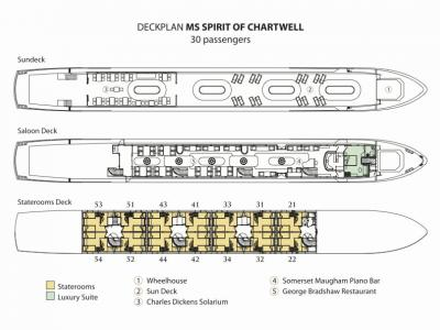 Схема баржи SPIRIT of CHARTWELL